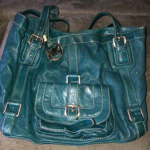 Teal  MK leather bag